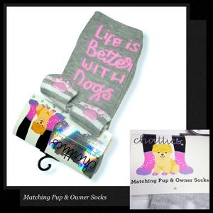CHATTIES Matching Pup & Owner Socks (Set of 2)